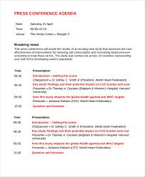 Press Conference Template press conference template agenda simple print then dreamswebsite
