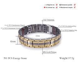 steel magnetic bracelet images Hottime 591 pcs 4 in 1 bio elements energy stone fashion titanium jpg