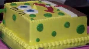 spongebob cake ideas how to easy decorating spongebob cake