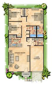 House Plans Without Garage One Floor House Plans Picture Bedroom Bath Open Best Ideas