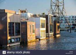 Floating Houses Floating Houses In Ijburg Amsterdam At Sunset Built To