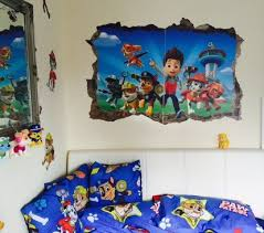 toddler paw patrol theme room u2013 single bed double baby