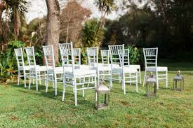 white tiffany chairs wedding hire raglan