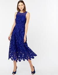 becky dress monsoon becky lace midi dress blue 8 4424220208