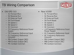 wiring comparison between gpd 315 and v ppt