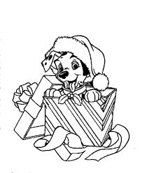 christmas puppy coloring page free download