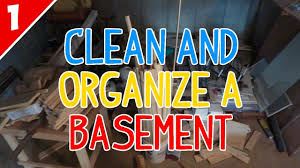 clean u0026 organize a messy basement part 1 of 2 youtube