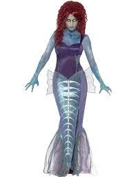 ladies zombie dead mermaid fairytale halloween fancy dress costume
