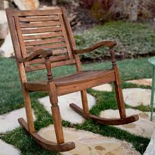 Rocking Patio Chair W Trends Solid Acacia Wood Rocking Patio Chair Dark Brown