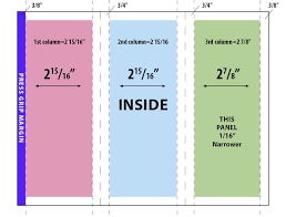 adobe indesign trifold brochure where do the fold lines go