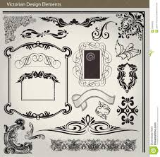 victorian design elements victorian design elements royalty free