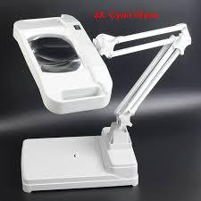 le de bureau avec loupe haute qualité le loupe de bureau avec la lumière pliage carré