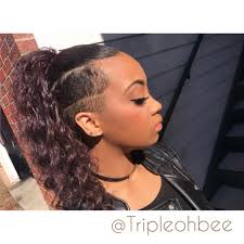ponytail haircut for me shaved sides short black hairstyles shelbee harman shaved hair shaved