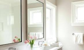 Www Bathroom Mirrors The Black Framed Bathroom Mirror Freeiam Concerning Metal Framed