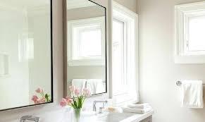 Framing A Bathroom Mirror The Black Framed Bathroom Mirror Freeiam Concerning Metal Framed