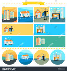 mobile home flat rent multifamily house stock illustration