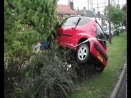 red peugeot 107 car crash into tree otford kent sevenoaks otford