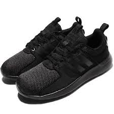 adidas cloudfoam lite racer adidas neo label cloudfoam lite racer w triple black women running