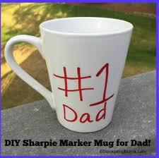 fathers day mug diy s day sharpie marker mug