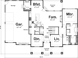 Reverse Story And A Half Floor Plans 1 5 Story Coastal Cottage House Plan