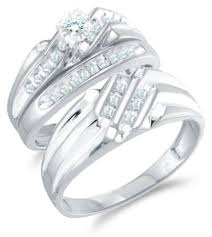 his and hers white gold wedding rings size 4 5 14k white gold diamond mens and his
