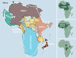 map size comparison map size comparison continents africa us china india mexico