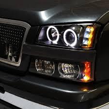 2004 chevy silverado led tail lights chevy silverado 2003 2006 black projector headlights bumper lights