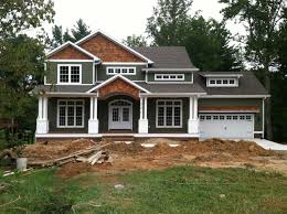 craftsman style home turn the garage to the side change the