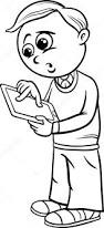 grade boy cartoon coloring u2014 stock vector izakowski
