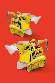 paw patrol rubble paper vehicle toy nickelodeon parents