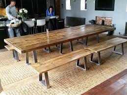 industrial style dining table with steel legs bespoke 6 12 ft