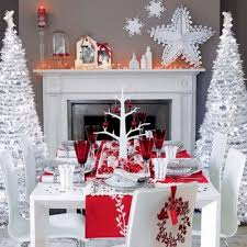 Christmas Table Decoration Ideas Silver by 75 Best Christmas Red White Silver Images On Pinterest