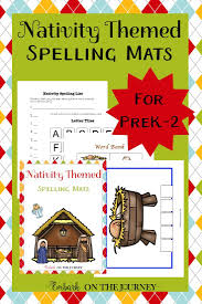 nativity themed spelling mats for prek 2 homeschool spelling