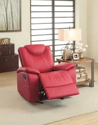 Red Leather Reclining Chair Homelegance Talbot Reclining Sofa Set Red Bonded Leather 8524rd