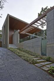 Wooden Material Element Luxurious Home Uses Wood And Stone Elements To Marry Interiors And