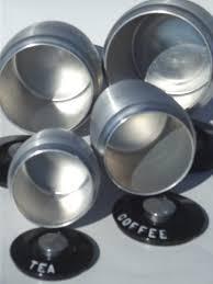 kromex spun aluminum canister set retro kitchen canisters