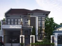 2 Storey Modern House Floor Plan Two Storey Home Designs Home Design Ideas