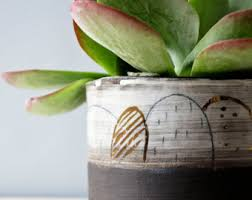 pottery planter etsy