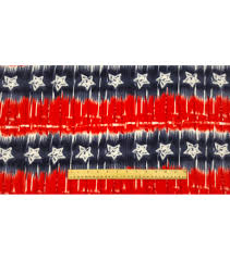 Red White Flag With Blue Star Anti Pill Fleece Fabric 59