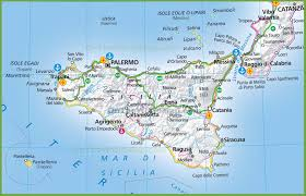 Map Of Italy And Switzerland by Sicily Maps Italy Maps Of Sicily Sicilia