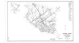 Nc Counties Map Caldwell County Maps