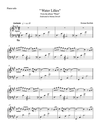 album of water piano solos sheet by herman beeftink