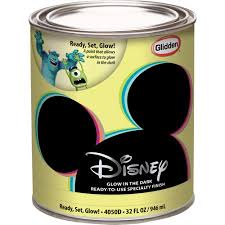 glow in paint disney ready set glow interior specialty paint 1 quart walmart