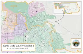San Jose Map by District 3 Map District 3 County Of Santa Clara