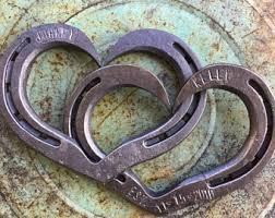 personalized horseshoes horseshoe heart etsy