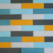 started a backsplash in odessa florida using us ceramics u201csnow ceramic subway tile carbon gray kiln collection modwalls tile kiln ceramic 2x8 subway tile carbon gray multicolor horizontal closeup