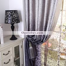 Luxury Grey Curtains High End Luxury Cotton Tree Patterns Gray Curtains Buy
