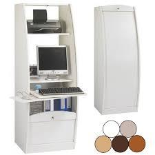 bureau informatique ferm meuble fermé pour ordinateur bureau pour ordinateur pas cher