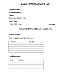 Patient Information Sheet Template Information Sheet Template 6 Free Pdf Documents Free