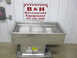 atlas metal drop in stainless salad bar buffet table cold pan
